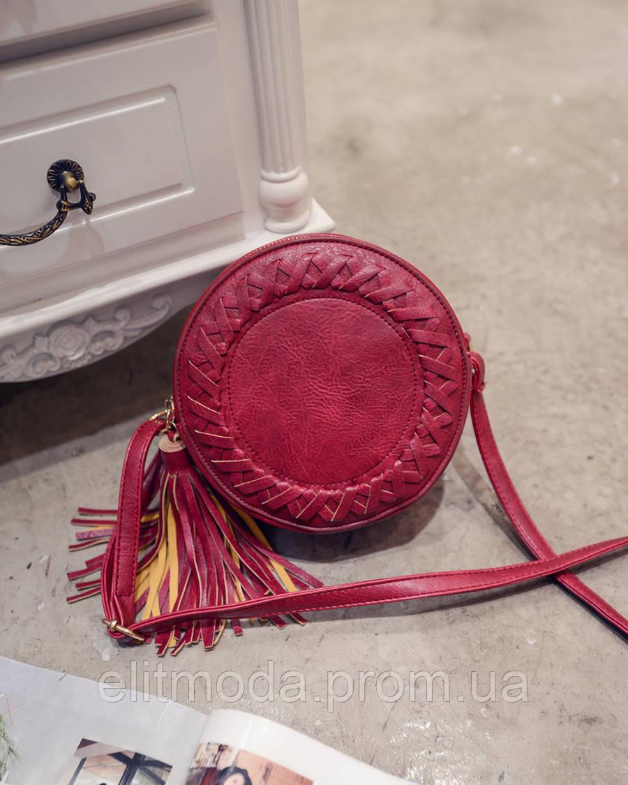 c53c432c44d3 Яркая красного цвета сумка круглой формы из эко-кожи: продажа, цена ...
