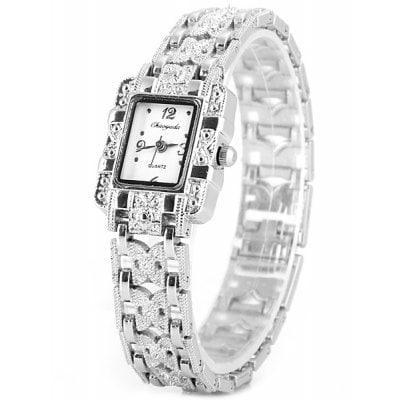 Chaoyada Модные женские кварцевые часы стальной браслет для часов прямоугольный циферблат Белый - ➊ТопШоп ➠ Товары из Китая с бесплатной доставкой в Украину! в Киеве