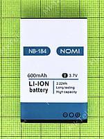 Аккумулятор NB-184 Nomi i184 600mAh, Оригинал