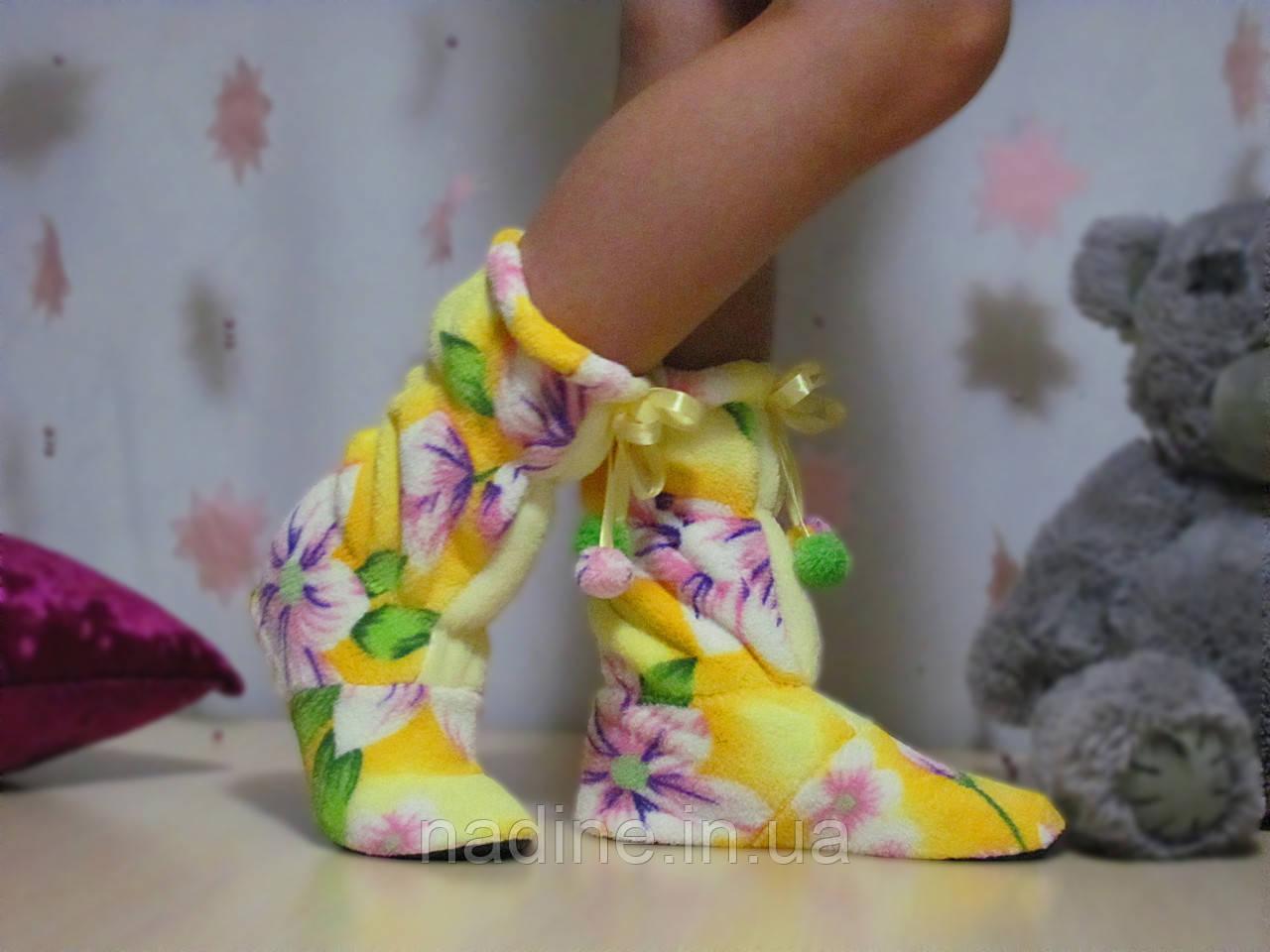 Сапожки Flower для дома Eirena Nadine (S-410) желтые 24см