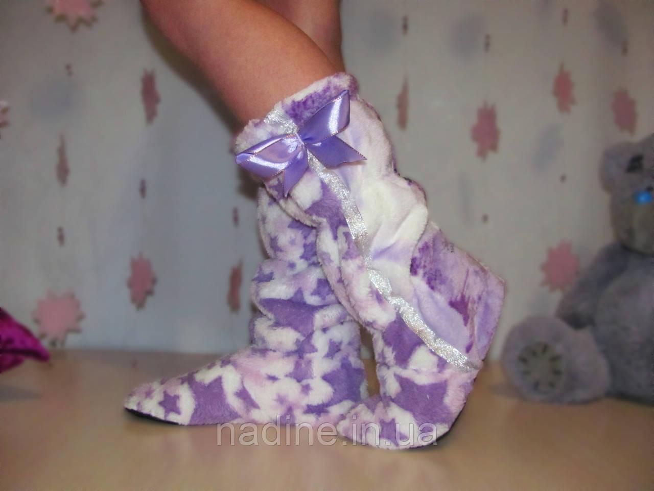 Сапожки Purple star для дома Eirena Nadine фиолетовые (S-412)  24см