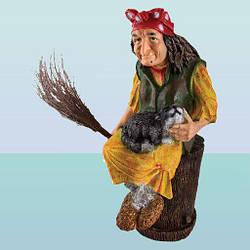 Садовая фигура, скульптура для сада Баба Яга