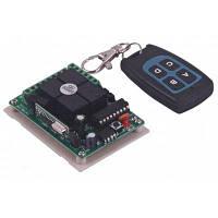 Практические четырех каналов DC12V беспроводной пульт дистанционного управления переключатель системы безопасности с 2 кнопками-черный+синий Чёрный