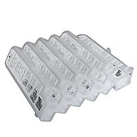Перезаправляемые картриджи Ocbestjet тип F3 для плоттеров Canon iPF670/iPF770 с чипами (6 шт. по 280 мл)