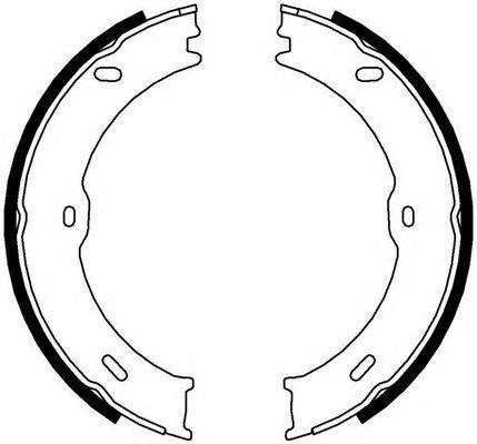 Колодки ручного тормоза Sprinter/Crafter 06-