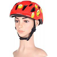 Аиды BJL-002 классный Детский шлем Интегрированный цельный велосипед Велоспорт шлем с регулируемой застежкой Красный