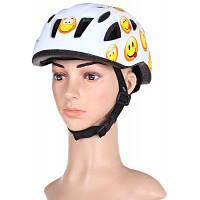 Аиды BJL-002 классный Детский шлем Интегрированный цельный велосипед Велоспорт шлем с регулируемой застежкой Белый