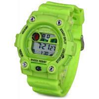 8951 LED военные спортивные часы красочный свет Секундомер, месяц, день недели Будильник Зелёный