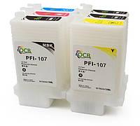 Перезаправляемые картриджи (ПЗК/ДЗК) для Canon iPF670/iPF770 с чипами (6 шт. по 130 мл)