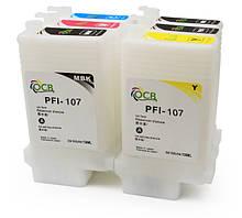 Перезаправляемые картриджи Ocbestjet для плоттеров Canon iPF670/iPF770 с чипами (6 шт. по 130 мл)