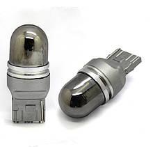 Светодиодная автолампа 7440(W21W) 5PCS CREE XPE Amber Invisible  25W led lamp