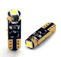 Синяя светодиодная автолампа Т5 (w1.2w), 1*3030SMD Golden Canbus Blue