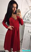 Стильное платье с юбочкой клеш