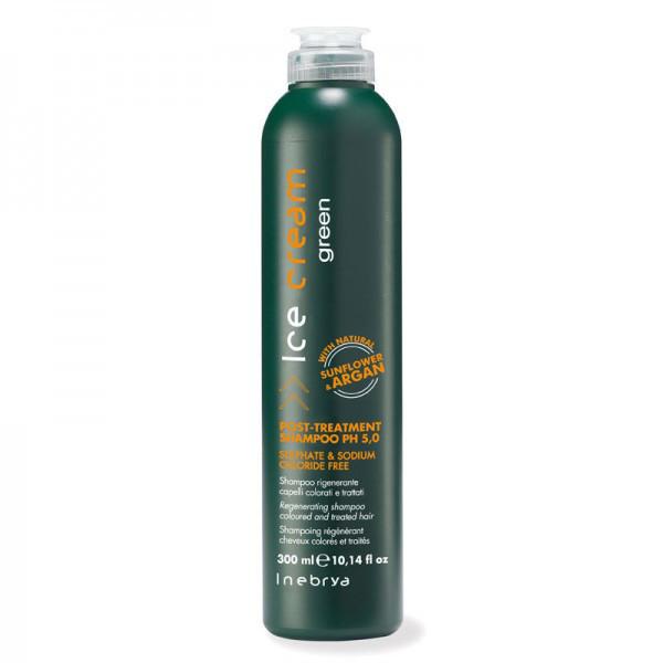Шампунь безсульфатный регенерирующий для волос - Inebrya Ice Cream Post, 300 мл.