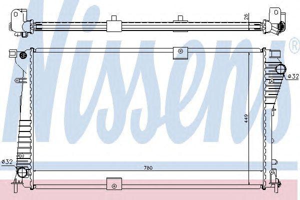 Радиатор охлаждения NISSAN; OPEL; RENAULT (пр-во Nissens)