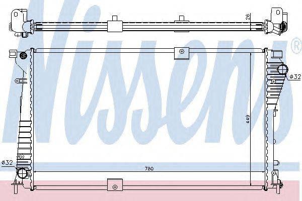 Радиатор охлаждения NISSAN; OPEL; RENAULT (пр-во Nissens), фото 2