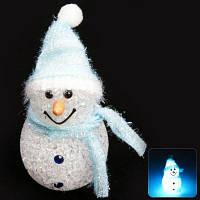 Светящийся снеговик рождественский декор фонарик новогоднее украшение 11см