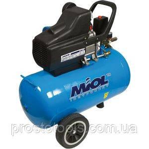 Компрессор воздушный масляный 24 литра Miol 81-152