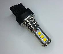 Светодиодная желтая автолампа 7440(W21W)-T20 27W LG Chip (250Lm) Yellow одноконтактная