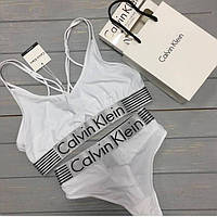Спортивный комплект Calvin Klein стринги, белый