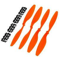 Углеродный нейлон 1045 пропеллер положительный и обратный для DJI F450 500 F550 самолета мультикоптера 2 пары Оранжевый