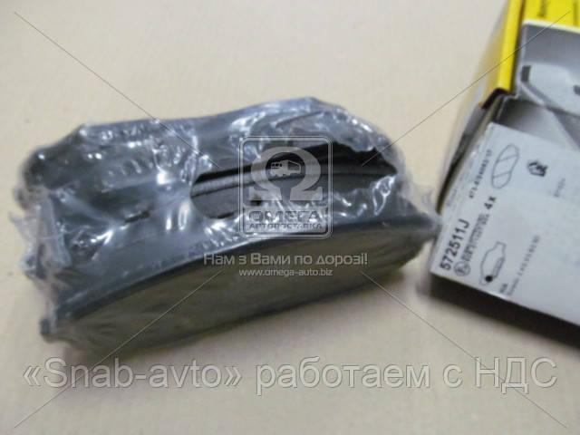 Колодки дискового тормоза (производство Jurid) (арт. 572511J), ADHZX