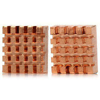 Практичные красные медные радиаторы охлаждения для Raspberry Pi B+-2шт 43110
