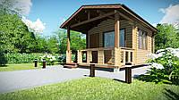 Дом деревянный сборный из профилированного бруса 6х4 м. Скидка на домокомплекты на 2020 год