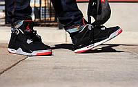 Мужские кроссовки Nike Air Jordan IV Retro Black cement