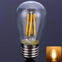 - 4С2 E27 3,5 Вт светодиодные трубчатые нити Глобус лампы (2500-3000К 320лм)S45E27 Тёплый белый