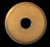Колесо сменное для плиткореза, карбид вольфрама, нитрид-титановое покрытие. 22х6х2мм