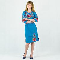 Женское вышитое платье, вышиванка, вышивка мальвы