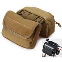 Многофункциональная сумка на седло с двойными карманами для велосипеда и мотоцикла Коричневый