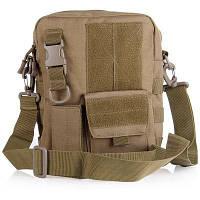 Прочный тактический Шолдер Сумка 1000Д пакеты для хранения военных на открытом воздухе необходимо Коричневый