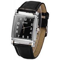 Eyki унисекс популярные японские Кварцевые часы Кожаный ремешок для мужчин Чёрный