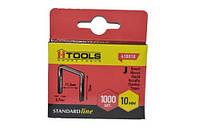 Скобы для ручного степлера 8 мм мягкие тип J (1000 шт), Housetools 41B004