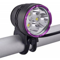 SingFire SF по-827 Кри XML-У2 3 светодиодов велосипед Лампа переднего фара (3 режима 2700lm Сид 4 х 18650) Чёрный