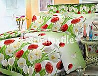 Набор постельного белья в большие красные цветы