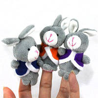 3шт Стиль Кролик плюшевые игрушки палец куклы рассказать историю поставок Как на изображении