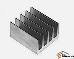 Радиаторный профиль алюминиевый 42х26мм без покрытия