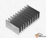 Радиаторный профиль алюминиевый 94х33мм без покрытия