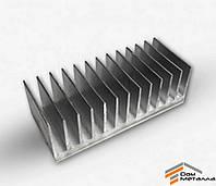 Радиаторный профиль алюминиевый 122х38мм без покрытия