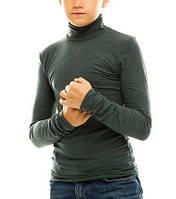 Гольф (водолазка) подростковый, кашемир, зеленый