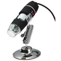 S02 USB-цифровой микроскоп 500X 8 светодиодных ламп Чёрный