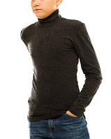 Гольф (водолазка) подростковый, кашемир, черный