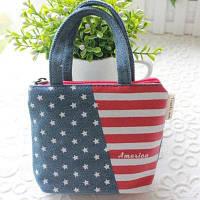 Модный Американизм Монета Телефон Сумка Кошелек Мини Сумка Прекрасный Подарок флаг США