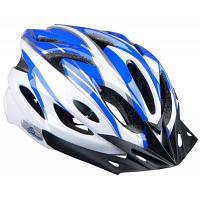 Прохладный велосипедный шлем цельным интегрированы велосипеде шлем с регулируемой застежкой Синий и белый