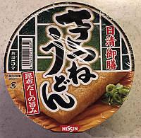 Ниссин. Японский  суп с лапшой тофу быстрого приготовления со вкусом говядины, лука порея + рисовая лепешка
