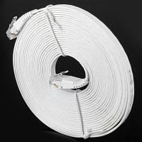 Многофункциональный кабель UTP cat6 кабель RJ45 плоский Ethernet сети патч линии для домашнего офиса-5м Белый