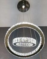 Люстра Circle LED 9010-500+300 (хром)